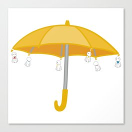 Weathering with you yellow umbrella Canvas Print