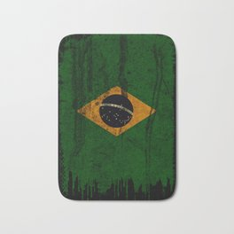 Brazil grunge vintage Flag Bath Mat
