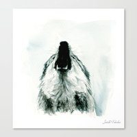 howl Canvas Prints featuring HOWL by Joelle Poulos