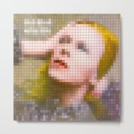 Bowie : Hunky Dory Pixel Album Cover Metal Print
