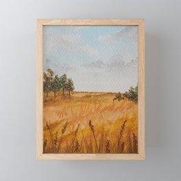 Prairie Feild Landscape Digital Download Art Print Watercolor Painting Poster Wall Decor Framed Mini Art Print