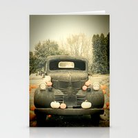 truck Stationery Cards featuring Pumpkin Truck by Toothpick Images