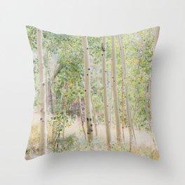 The Aspen Grove Throw Pillow