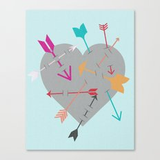 Arrow Heart Canvas Print