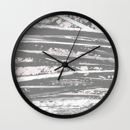 Cracking branch (charcoal) Wall Clock