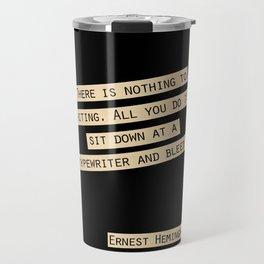 Nothing to Writing Travel Mug