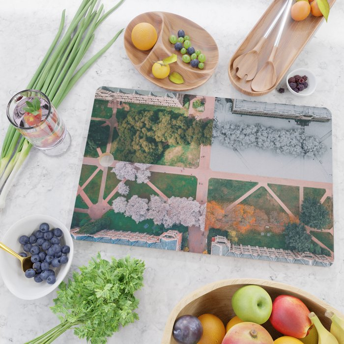 UW Cherry Blossoms: 4 Seasons Cutting Board