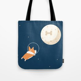 Fly to the moon _ navy blue version Tote Bag