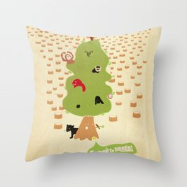 Be Good to Trees Throw Pillow
