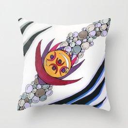Bubble Sword Throw Pillow