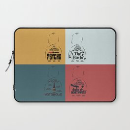 Four Hitchcock movie poster in one (Psycho, The Birds, North by Northwest, Notorious), cinema, cool Laptop Sleeve