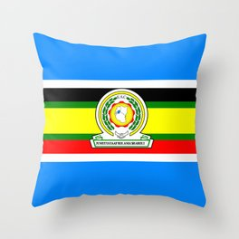flag of East African Community or EAC Throw Pillow