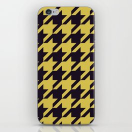 Houndstooth Black And Yellow iPhone Skin