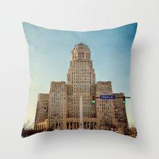 Down Town City Hall Buffalo NY Throw Pillow