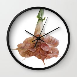Angel's trumpet Wall Clock