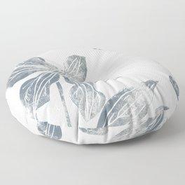 Silver clematis Floor Pillow