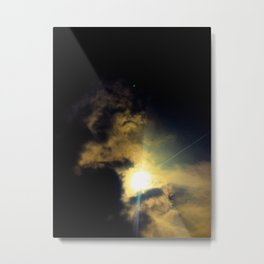 Cloud Dragon holding the sun Metal Print