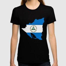 Nicaragua Map with Nicaraguan Flag T-shirt