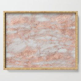 Martino rose gold marble Serving Tray