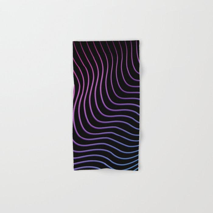 Neon Waves Hand & Bath Towel