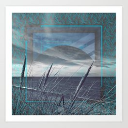 Before the Storm - blue graphic Art Print