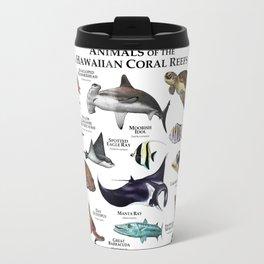 Animals of the Hawaiian Coral Reefs Travel Mug