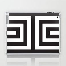 Black Greek Stripes Laptop & iPad Skin