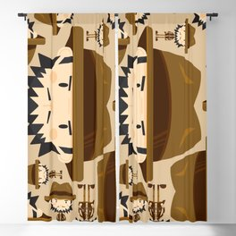 Cute Cartoon Safari Explorer Pattern Blackout Curtain