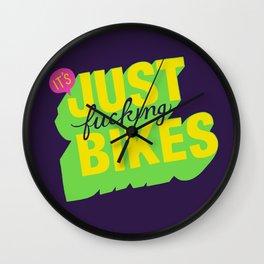 It's Just Fucking Bikes. Wall Clock