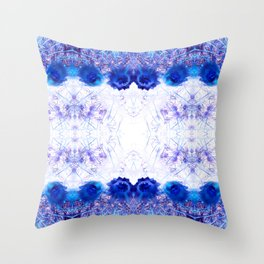 Crowning Flowers 2 Throw Pillow