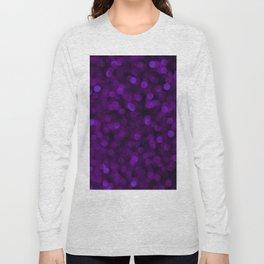 Purple Ultra Violet Glitter Bokeh Glam Pattern Long Sleeve T-shirt