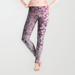 Mermaid Scales Blush Leggings