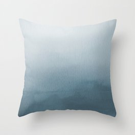 Behr Blueprint Blue S470-5 Abstract Watercolor Ombre Blend - Gradient Throw Pillow