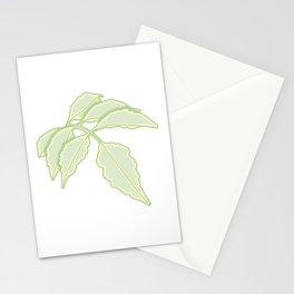 Serrated Edge Leaflet Illustration Stationery Cards
