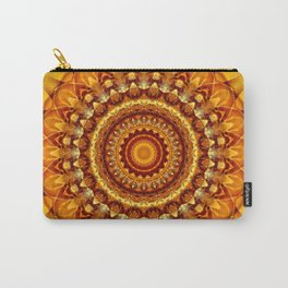 Mandala bright yellow Carry-All Pouch