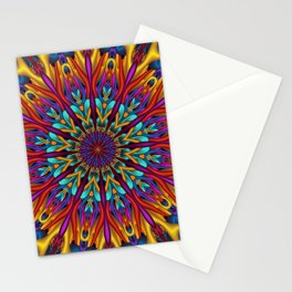 Amazing colors 3D mandala Stationery Cards