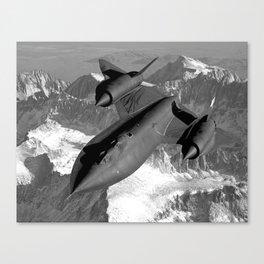 SR-71 Blackbird Flying Canvas Print