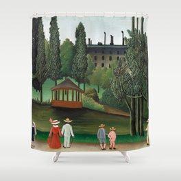 Henri Rousseau - View of Montsouris Park, the Kiosk Shower Curtain