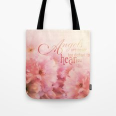 Pink Cherry Blossom for Angels Tote Bag