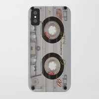 transparent iPhone & iPod Cases featuring Cassette Transparent by Diego Tirigall