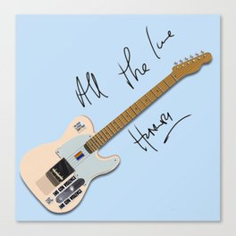 Harry's guitar Canvas Print