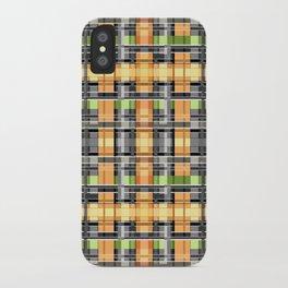 Grey-yellow  beautiful  plaid iPhone Case