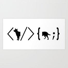 Full Stack Cattle Dog - Front End / Back End Developer Dog Art Print