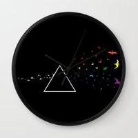 dark side Wall Clocks featuring Dark Side  by Prajesh Shrestha