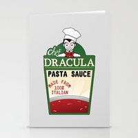 chef Stationery Cards featuring CHEF DRACULA by DROIDMONKEY