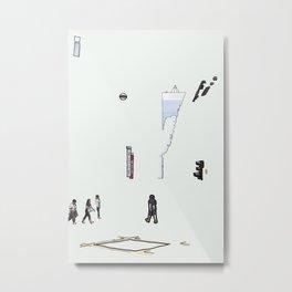 A Road Crossing Metal Print