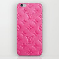 lv iPhone & iPod Skins featuring Pink LV by Luxe Glam Decor