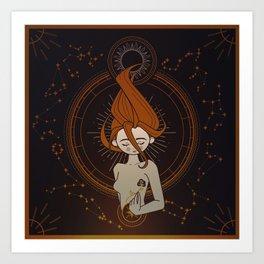 Astral goddes Art Print