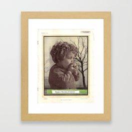 Girl and Apple Framed Art Print
