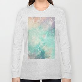 Colorful Marble Pattern Long Sleeve T-shirt